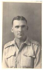 Postcard WW2 British Army Soldier Jack Xmas Message Home Italy 1943 RPPC 14a