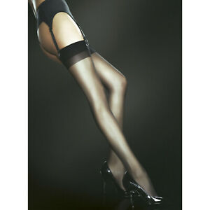 Fiore Sensual Justine 20 Classic Sheer Thigh High Stockings - Black or Tan