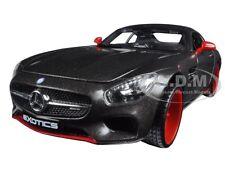 "MERCEDES AMG GT ""EXOTICS"" BLACK 1/24 DIECAST MODEL CAR BY MAISTO 32505"