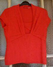 Per Una Size 18 Red Top Slight Stretch Trace Embroidery Design