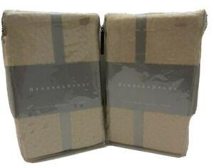 Barbara Barry Cloud Nine Queen Pillow Shams (set of 2) Color-Powder (Tan) NIP