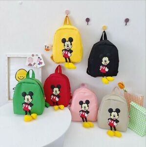2021 Children Kindergarten Girls/Boys Mickey Mouse Kids Traveling Bags Backpacks