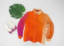 🔥 SONIA RYKIEL 🔥100% Silk Chiffon Degrade Georgette Shirt Blouse SIZE S