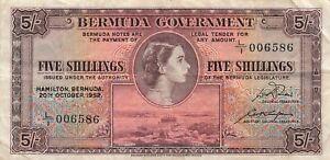 Bermuda 5 Shillings 1952 P-18a