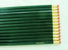 "12 Hexagon ""Dark Green"" Personalized Pencils"