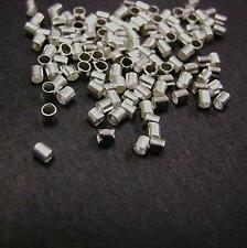 100pc Nickel Look Crimp Tube Stopper Metal Bead 1.5mm-8587
