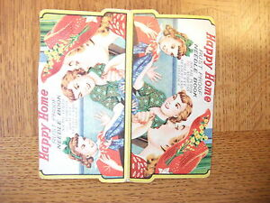 Vintage 1940s Happy Home Sewing Needle Book