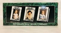 Silverplated Picture Frame Set of 3 International Silver Company NIB 9911 1938