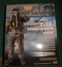 """BBI Aviator US Navy F-18 Hornet Pilot """"Cougar""""1.6 Scale Poseable in Unopened Box"""
