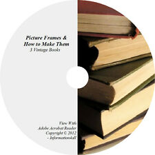 3 Books on CD – Picture Frames & How to Make Them, Mounting, Framing, Diagrams