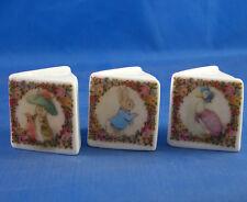 Birchcroft Thimbles -- Miniature Book Style  -- 3 Beatrix Potter Vintage