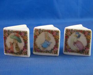 Birchcroft Thimbles -- Miniature Book Style  -- Set of 3 Beatrix Potter Vintage