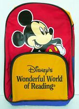 Walt Disney Wonderful World Of Reading Book Bag Approx 12'' L By 9'' W Back Pack