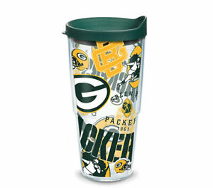GREEN BAY PACKERS, 24oz DOUBLE WALL, TUMBLER FROM TERVIS  WITH LID INCLUDED