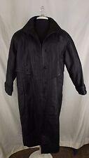 Womens Long Black Leather Coat G III Rain/Trenchcoat