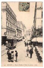 CPA 35 - RENNES (Ille et Vilaine) - 54. Rue de Berlin et Palais de Justice - LL
