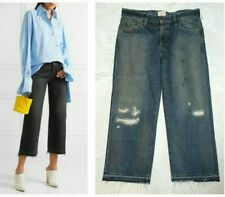 SIMON MILLER W005 BALTIC CROPPED FRAYED WIDE LEG DISTRESSED DENIM JEANS $275 29