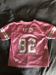 DALLAS COWBOYS Jason Witten #82 Girls Toddler Mesh Pink Jersey Sz 3T