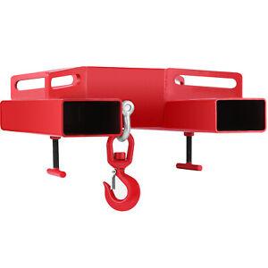 6600lbs Forklift Lifting Hook Telescopic Handler Loader Steel Hook Hoist Swivel