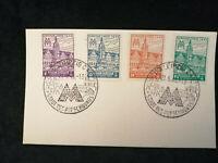 Deutschland Alliierte Besetzung 21.06.1946 - MiNr.162-165 Karte Stempel Leipzig
