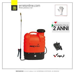 Pompa a spalla per irrorazione elettrica a batteria 16lt, irroratrice a zaino