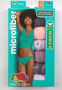 Women's Fruit of the Loom Microfiber Briefs, Bikinis, OR Hi-Cuts 6-Pk; Choose Sz