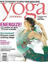 Yoga Journal Magazine Energize Headstand alignment The creativity issue 2012