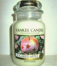 """Yankee Candle Retired """"Sugared Apple""""~ Large 22 oz ~White Label~ Rare~Vhtf~ New"""