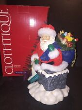 Possible Dreams Clothtique Rooftop Delivery Music Box Santa Figurine #713479