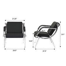 1PC Reception Chair Office Salon Waiting Room Guest Reception Black