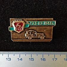 "USSR Pin Russia Car Automobile Badge ""GAZ-67"". 1943. Alu."