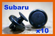 10 Subaru Guardabarros Delantero Parachoques Cubierta Revestimiento Clips Sujetador Push