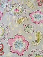 Pottery Barn Kids  Floral Garden Butterfly Paisley Blue Twin Duvet and one sham