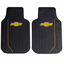 2 PIECE CHEVROLET CHEVY ELITE LOGO RUBBER FLOOR MATS SET FOR CARS VANS TRUCKS