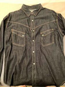 TCB Ranchman Denim Shirt size 46