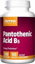 Jarrow Formulas Pantothenic Acid B5 Vitamin, 500 mg, 100 Capsules, Energy Boost