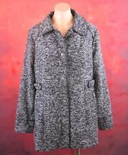 Jeanswest, Size 14 Womans, Black & White Specks Cozy Coat