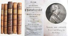 Caractéristique des empereurs et rois de l'Allemagne - 5 volumes - 1796/1807