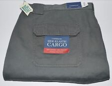 Croft & Barrow Men's Side-Elastic Cargo Shorts Relaxed Fit - Sz 52 Forest Green