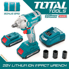 Total Tools 20V Impact Wrench Cordless Brushless Motor 2.0Ah Fast Charge