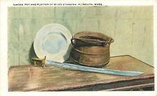Plymouth Massachusetts~Sword, Pot and Platterof Miles Standish 1920s