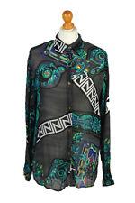 Vintage Modi & Mode Shirt Long Sleeve Summer Fashion Design UK M/L Multi - LB168