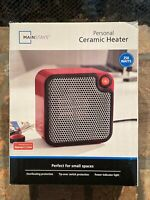 Mainstays Red Personal Ceramic Space Heater Electric Portable 250W
