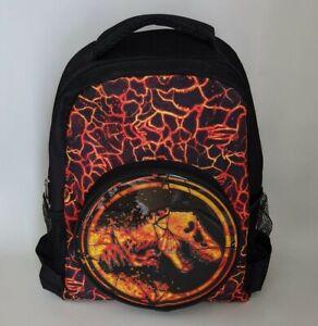 Jurassic World Backpack Bag Back Pack Kids School Bag lava theme T-Rex