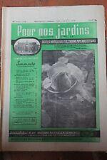 POUR NOS JARDINS N°88 1964 - RADIS NAVETS OIGNONS BLANCS PAILLIS HARICOT WITLOOF