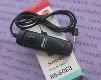 Remote Shutter Release with cable RS-60E3 for Pentax K-7,K-5, K-5II, K-3, K- 3II