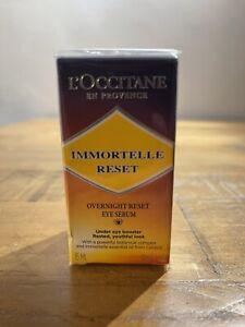 NEW L'OCCITANE IMMORTELLE Overnight Reset EYE SERUM Booster 15ML Bottle RRP £45
