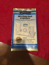 NEW IN PACKAGING Giftxpress MP3 Player Dock And Speakers