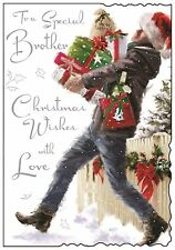 To A Special Brother Christmas Card ~ Lovely Quality ~ Verse ~ Made In UK VT