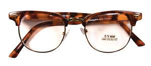 Elliot Tortoise Semi-Rimless Frame Old Man Nerd Hipster Glasses Reporter Costume